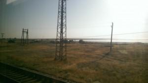 Стихийный пост украинских пограничников на въезде в Крым